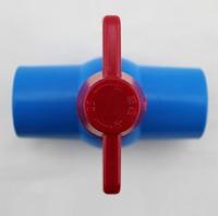 aquarium tube ball valve connector, blue color, inner diameter 63mm 50mm, for tube DIY
