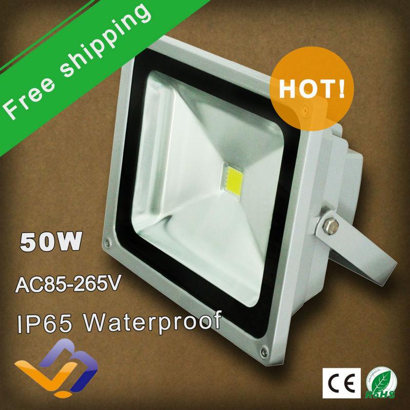 Freeshipping 10pcs/lot 50W Led Floodlight Waterproof Outdoor Lighting for Street Lighting Gardan Advertising Light Flood Light(China (Mainland))