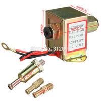 Universal 12v 2-4PSI 20-30 GPH Auto Metal Electric Fuel Pump Solid & Fuel filter