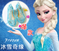 FROZEN BLUE SHOES ELSA PRINCESS SANDAL FASHION GIRLS KIDS CUTOUT FOOTWEAR CHRISTMAS GIFTS FREE SHIPPING