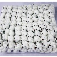 20pcs/lot Best selling mini plush white teddy  bear doll cartoon plush toys for girls and boys