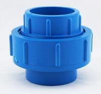 aquarium tube ball valve connector, blue color, inner diameter 20mm 25mm 32mm 40mm 50mm, for tube DIY