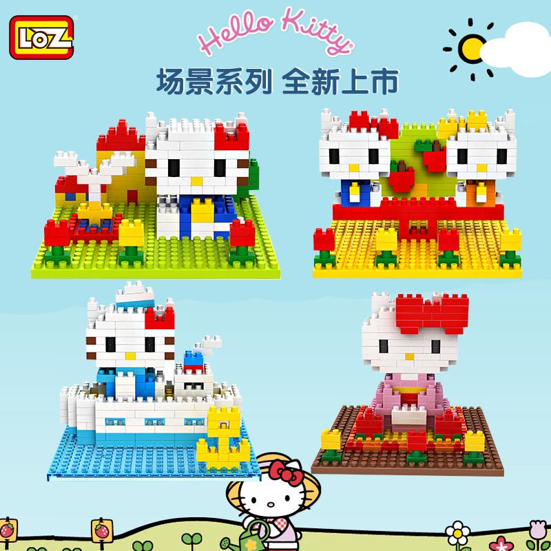 LOZ Diamond Building Blocks Hello Kitty 4 Style Scenario Model Children Toys Christmas Gift Original Box(China (Mainland))