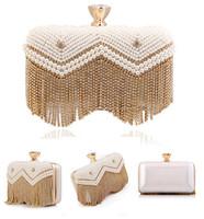 Tassel Pearl Evening Bags Rhinestone Women Clutch Bags Crystal Evening Bag Beaded Handbags For Christmas Gift
