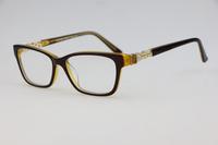 Optical frames Unisex plain mirror 4102 Coffee color Elegant Cute Luxurious inlay Rhinestone Myopia