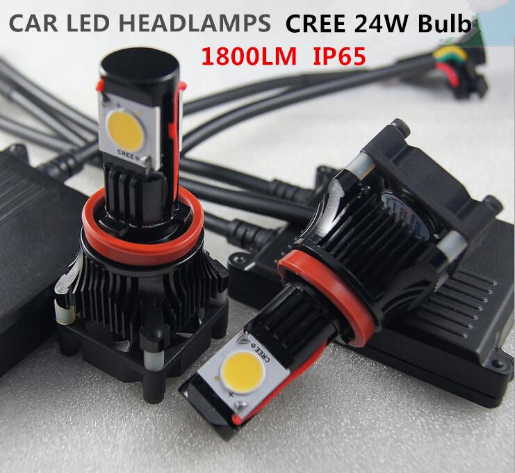 FREE SHIPPING H1 H3 H7 H8 H11 HB3 HB4 9005 9006 H4 HI/LO 9004 H13 25W CREE CAR LED HEAD LIGHT 1800LM Headlamp Conversion kit set(China (Mainland))