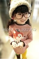 Autumn 2015 Korean Version Children's Clothing Cotton Girls Cartoon Bottoming Shirt Kids Small Fox Girls  Long Sleeve T shirts
