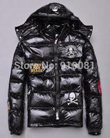 Japanese tide brand MMJ down jacket male  Medal of skulls shiny thicker  coat for lovers