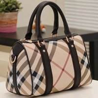 2014 Fashion Designer Brand Genuine bag Leather handbags women plaid bags high quality genuine leather Hot sell