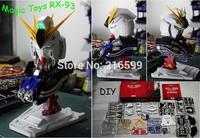New Magic Toys 1/35 Scale RX-93 Nu Gundam Head Plastic Model Kit Children's DIY Birthday Gift Collection Free Shipping