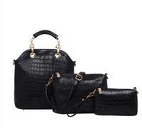 2015 New Fashion PU Leather Shoulder Bag Women Handbag Women Messenger Bags 3pcs/lot