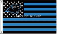 NFL Carolina Panthers US Stripe Flag 3x5 FT 150X90CM Banner 100D Polyester flag 1001, free shipping