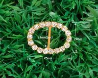 13mm inner bar,20pcs/lot  Craft Buckle Diamante Rhinestone DIY party Wedding Ribbon gold Buckle Bridal Invitation Supplies A10