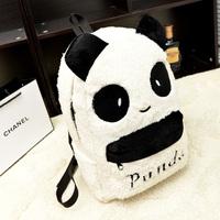White Cute Plush Cartoon Panda Women Bolsas Mochilas Femininas Kawaii Girls School Bags For Teenagers Women Panda Backpacks