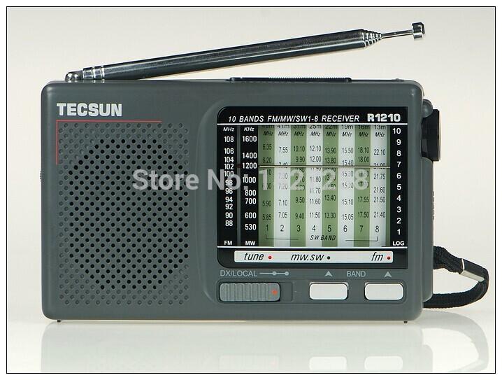 Tecsun R-1210 high sensitivity FM / MW / SW 10 band radio portable radio receiver radios(China (Mainland))