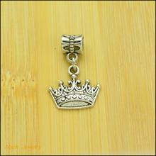 30 pcs Fashion Big Hole Loose Beads  European crown Pendant Beads Fits Pandora Charms Bracelets & pendants diy Jewelry  CQ012