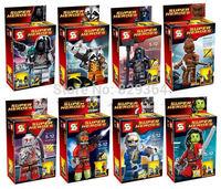 SY 8pcs/lot Guardians of the galaxy Minifigures Building Blocks Sets lego compatible Educational blocks