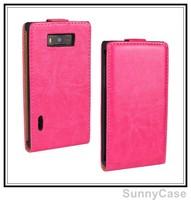 Retro Crazy Horse Leather Flip Cover Case for LG Optimus L7 P700 P705