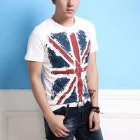 Top Fashion Mens Basic Crew Neck Geometric Tee Short Sleeve Fitness Sexy T Shirts Stunning Uk Flag Print