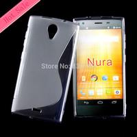 Hot Selling S Line Shape Design Soft Gel TPU Case For Orange Nura Protective Skin
