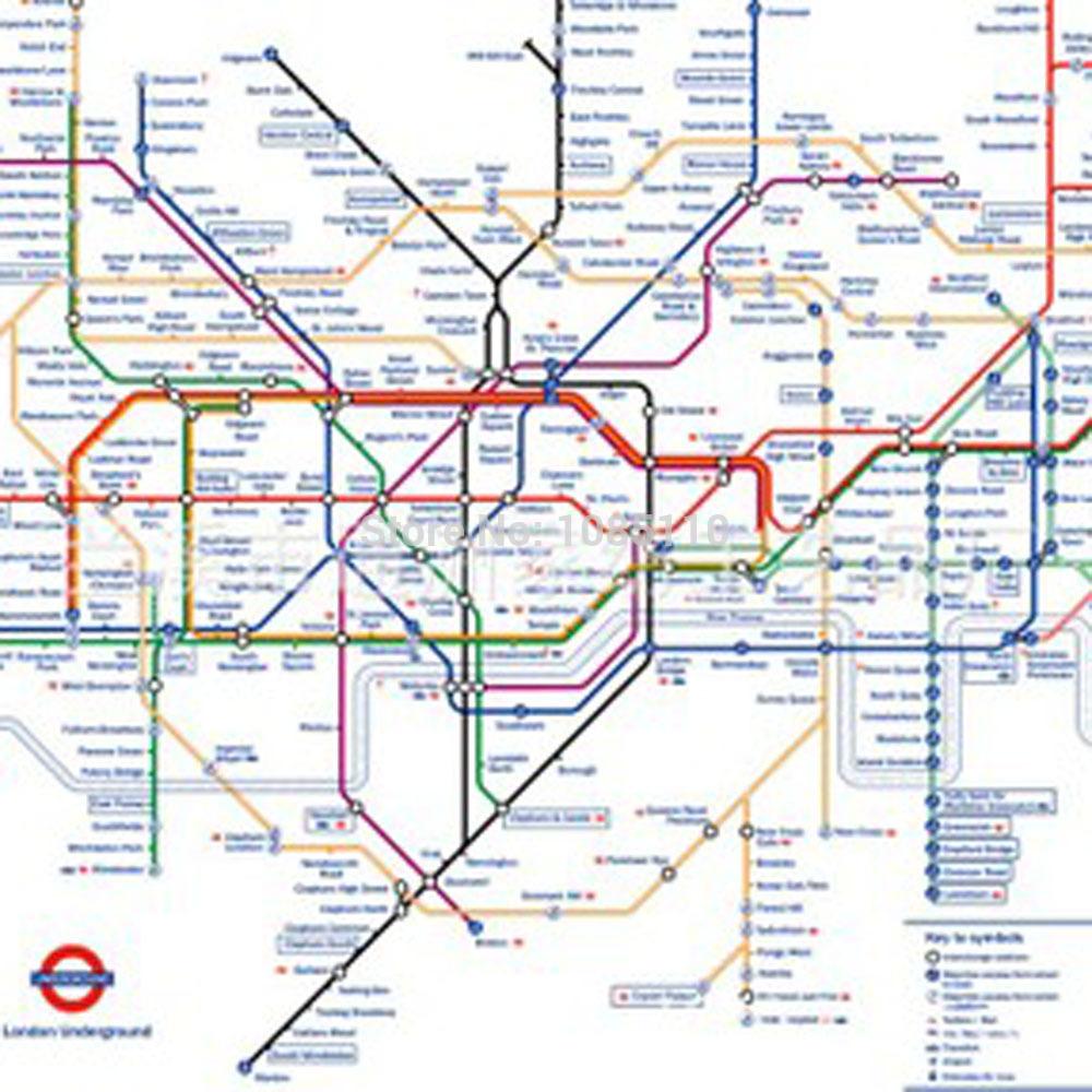 Cortinas De Baño Londres:Map London Underground Shower Curtain