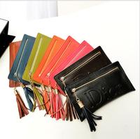 2014 new leather wallet Korean ladies long leather zipper wallet large capacity purse 8 colors