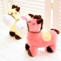 Free shipping Horse plush toy doll dolls little cowboys Horse mascot doll wedding birthday gift   Christmas Gifts
