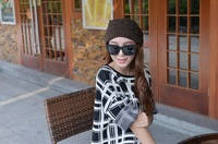 The New Popular 2014 Manual Knitting Hat Men and Women Autumn Winter Warm Caps 4 Colors