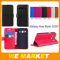 ACE Style G357 Case,Lichee Skin PU Leather Stand Case Cover For Samsung Galaxy Ace Style LTE G357 SM-G357FZ