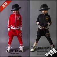 2015 boys set autumn male female child personality sportswear child casual harem pants outerwear hip-hop sweatshirt