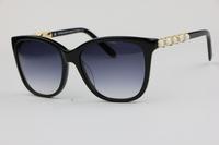 Luxurious inlay Rhinestone Unisex Sunglasses TF4107  Black Fashion wild Small fresh style Plate Frame