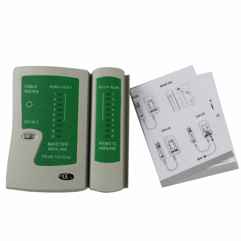 2pcs/lot RJ45 RJ11 RJ12 CAT5 CAT6 Network LAN Cable Tester Test Tool New(China (Mainland))