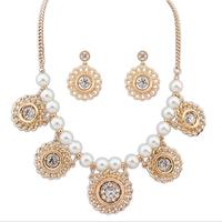 Fashion women's crystal alloy jewelry sets choker necklace earrings star styles of necklace earrings for women