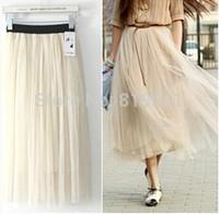 2015 Summer Womens Novelty  Mesh Skirts Lady High Street Slim Candy Color Bohemian  Skirt white black pink beige mint green