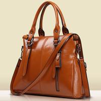 New Fashion Women Leather Handbag Vintage Shoulder Bag Women Messenger Bags Genuine Leather Tote Bolsas Women Crossbody Bag