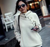 Spring Autumn New Fashion Hoodies Women Sport Suit Pullovers Hoody Swearshirt Fleece Warm Moleton Feminino Winter Coat Camisolas