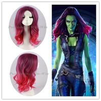 cosplay wig free shipping + free wig cap Guardians of the Galaxy X-Men 4 Card magic pull  purple shade wig