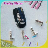 100pcs per lot of New Arrive Letter L 3D nail charms decorations Professional nail art supplier wholesale