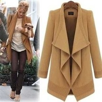 2014 Design New Spring/Winter Women Navy and Camel Trench Coat
