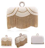 Finger Ring Rhinestone Evening Bags Tassel Pearl Diamond Evening Bag Women Clutch Bag Beaded Small Bags For Christmas Gift
