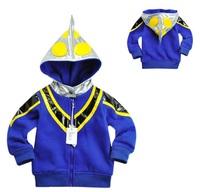 Free shipping EMS/DHL Boys kids ultraman costume cartoon coat jacket sweater ultranman sport shirt winter warm outerwear hoodies