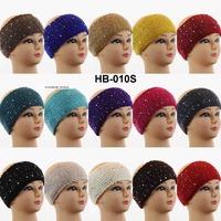 2014 Spandex Kintted Women Rhinestone Pasted Headband Hair band Turband Hair Acessory BOHO GYPSY Hair accessories Free Shipping