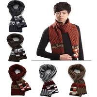 New Men scarf Fashion Men Winter Wool Plaid Scarves Luxury Men Brand Cashmere Winter Long Scarf High quality best Christmas gift