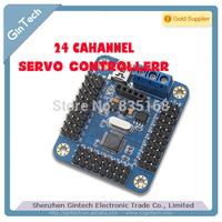MINI USB 24 way, 24 Channel Servo Controller servo Driver Board for Arduino support PS2 , support win8