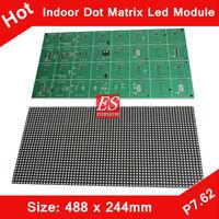 Express Indoor F5.0 P7.62 Dual Color 1R1G LED Dot Matrix Module 488*244mm 64*32 Pixels for LED Traffic Sign, Advertising