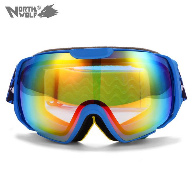 High Quality 2014 Hot Sale ski goggles double lens anti-fog big spherical professional ski glasses unisex multicolor snowgoggles(China (Mainland))