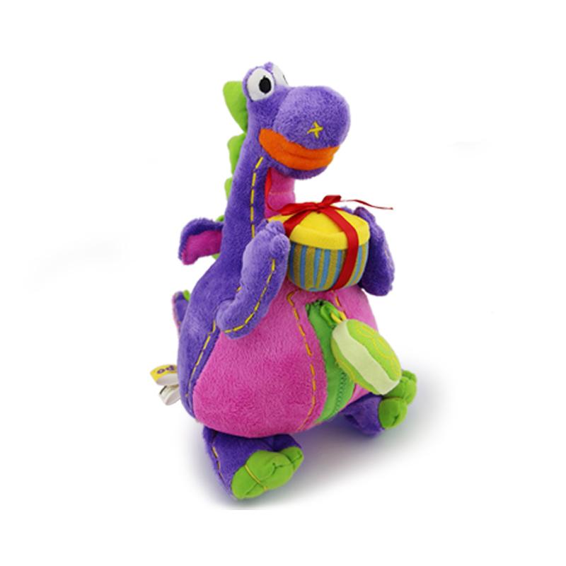 Korean brand stuffed plush toy doll deep purple dibo cartoon doll the gift dragon free shipping(China (Mainland))