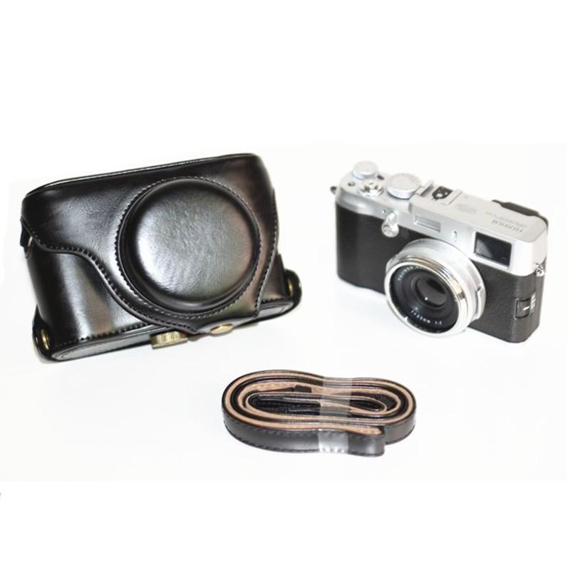 Higher quality Leather camera Case bag LC-X100S LC-X100 Finepix X100S X100 X100T Fujifilm Black(China (Mainland))