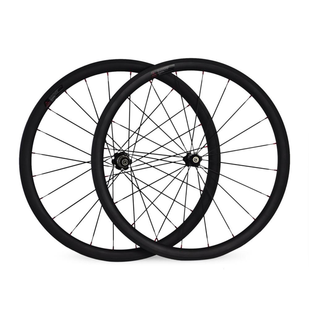 Newest Bike Wheels 700C 25mm Width 38mm Clincher Carbon Wheelset Bicycle Carbon Wheels(Hong Kong)