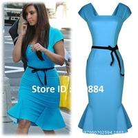 New Fashion Sexy Club Dress Party Evening Elegant Bodycon Sexy Bandage Vestido Longos Kim Kardashian M-XXL Free Shipping